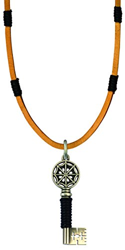 - Bico Raw Gatekeeper Pendant & Brown Leather Necklace (RA2P2B) - holds the key to your soul