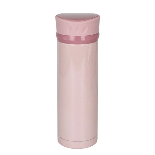 Coffee Travel Mugs Office Stainless Steel Water Bottles Vacuum Insulated Double Wall Leak-proof Flasks -450ml/Pink