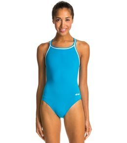 Dolfin Poly Solid DBX Back One Piece Swimsuit Swimsuit - Turquoise - 28