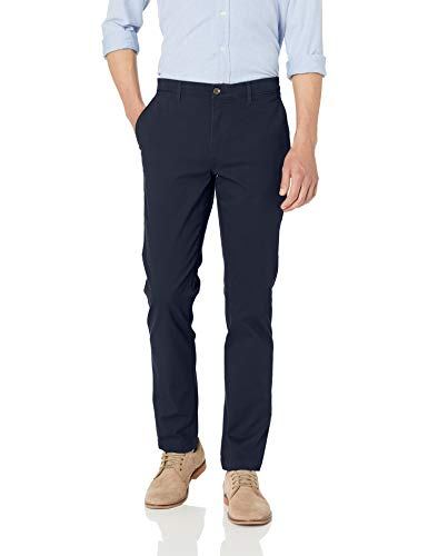(Amazon Essentials Men's Skinny-Fit Casual Stretch Khaki Pant, Navy, 34W x 34L)