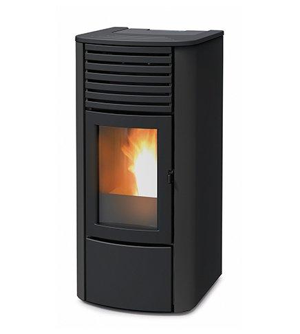 termoestufa A pellets MCZ Clio Hydro 16 de 16,25 KW, Ventilación frontal, Negro: Amazon.es: Hogar