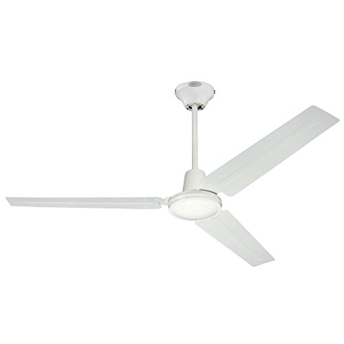 Westinghouse Lighting 7812700 Industrial 56-Inch Three-Blade Indoor Ceiling Fan, White with White Steel Blades ()