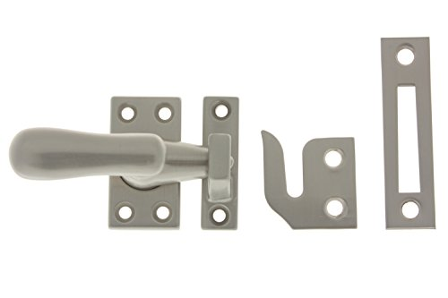 idh by St. Simons 21014-015 Professional Grade Quality Genuine Solid Brass Casement Fastener, Satin Nickel, Large