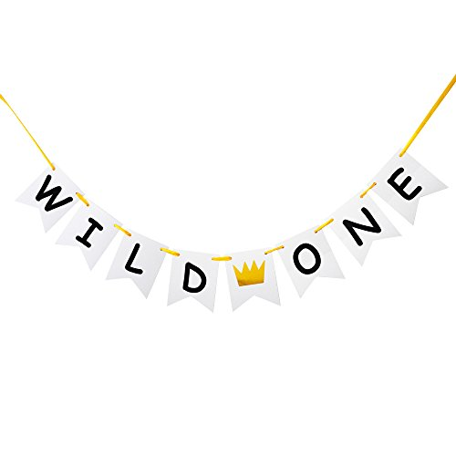 Wild One Banner, Baby's First Birthday Party Decorations/1st Birthday Photo Props