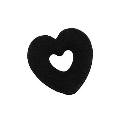 Anneau Adeshop Cheveux Band Noir Hair 1pcs Mode Femmes Type Élasticité Baotou De Coeur aYrawqA