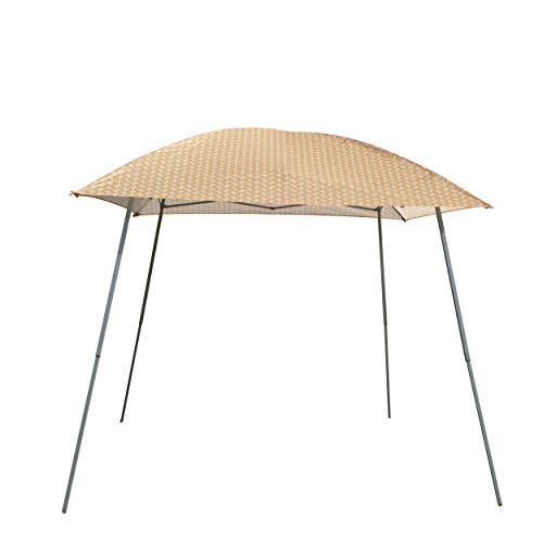 Gazebo Foldable (GOJOOASIS Pop Up Canopy Party Tent with Carry Bag Instant Shelter Slant Leg Easy Gazebo (8'x8', Orange stripe))