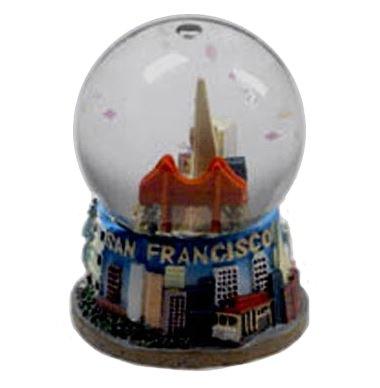 San Francisco Golden Gate Bridge City Skyline 2.5'' Water Globe , San Francisco Souvenir