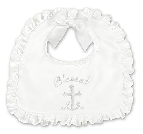 Bearington Baby Blessings Girl's Christening and Baptism Bib, 10