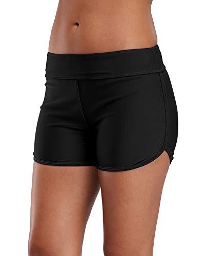 Shorts Women Boy Short Tankini Bottoms Swimwear Bottoms 2XL ()