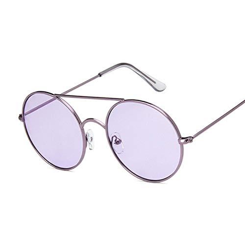 - Oversized Round Sunglasses Fashion Women Large Size Big Retro Mirror Sun Glasses Lady Vintage Uv400,Purplepurple