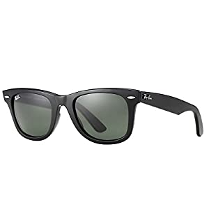 Ray-Ban 0RB2140 Original Wayfarer Sunglasses, Black, 54mm