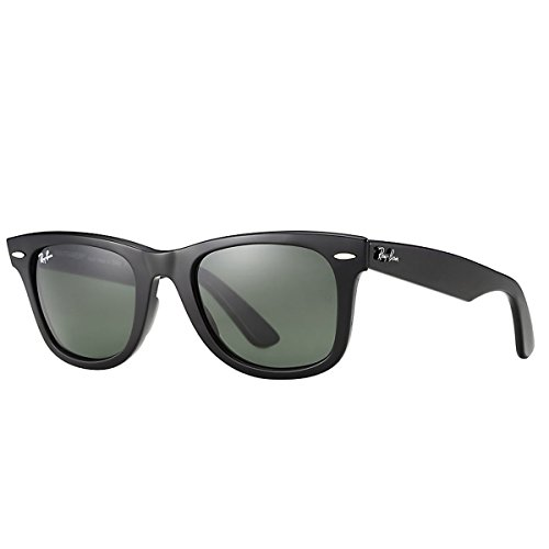 Ray-Ban RB2140 Wayfarer Sunglasses, Black/Green, 54 mm