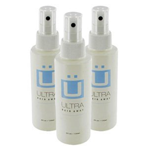 Ultra Hair Away Hair Inhibitor - Permanent Hair Remover 4oz (3 Bottles) by Leading Edge Health