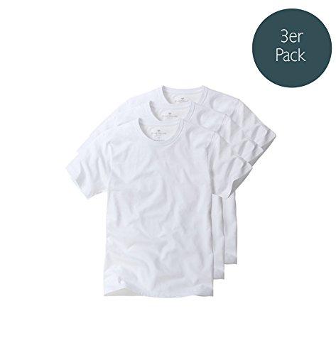 tom-tailor-3-pack-mens-t-shirt-round-neck-crew-neck-t-shirts-m-xxl-white-xx-large