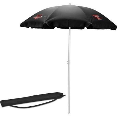 NCAA Texas Tech Red Raiders Portable Sunshade Umbrella, Black