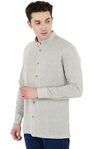 SKAVIJ Button Down Shirts for Men Cotton Long Sleeve Casual Shirts Regular Fit Grey by SKAVIJ (Image #3)