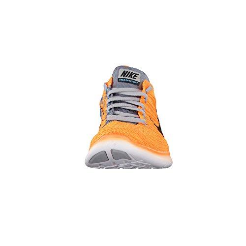 Nike Free RN Flyknit Scarpe da Corsa, Uomo Arancione (Lsr Orange/Blk-cl Gry-ttl Orng)