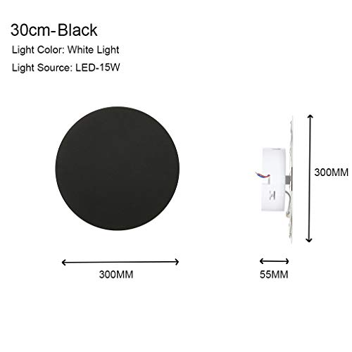 YunZyun Simple Wall Lamp Creative LED Simple Round Eclipse Wall Lamp Can Be Combined Decor for Living Room Bedroom Hallway Conservatory Lightening (Black)