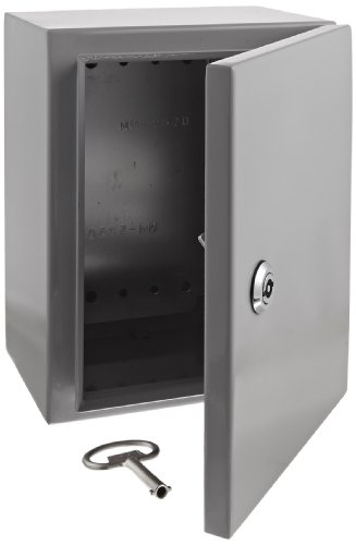 (BUD Industries Series SNB Steel NEMA 4 Sheet Metal Box with Mounting Bracket, 7-55/64