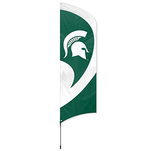 Party Animal NCAA Michigan State Spartans College Tailgating Flag Kit