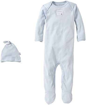 Burt's Bees Baby Essentials Footed Coverall + Knot Top Hat Set