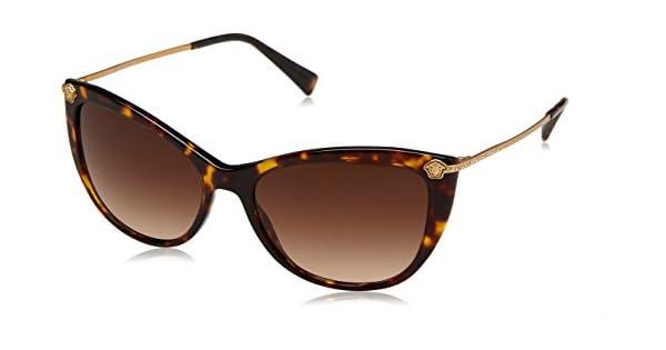 Amazon.com: anteojos de sol Versace VE 4345 B 108/13 Havana ...
