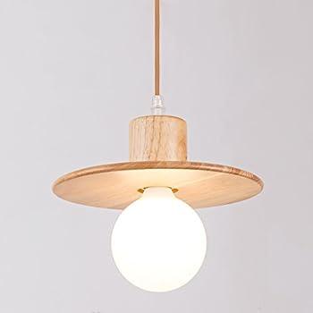 MINGDAXIN Modern Elegance Pendant Hanging Light Natural Wood Pendant Ceiling Lighting fixture with Hat Shape Base  sc 1 st  Amazon.com & Wood Pendant Light Aooshine 1-Light Modern Hanging Lighting ... azcodes.com
