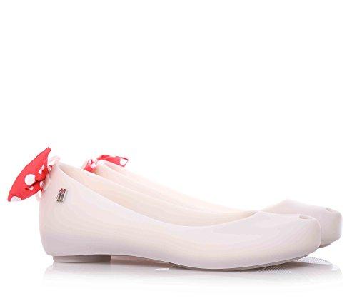 gomma MELFLEX Donna pois scarpa fiocco profumata Ballerina in bianca Bambina elegante a MELISSA MINI plastica Sqw11Y