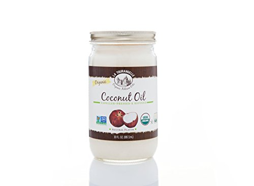 Coconut Refined Oil (La Tourangelle Organic Refined Coconut Oil 30 Fl. Oz, Organic Coconut Oil, Great for Cooking Baking and Hair and Skin Care)