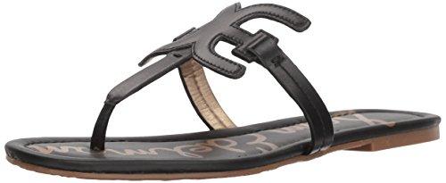 Sam Edelman Women's Carter Flat Sandal Black Leather 8 M US from Sam Edelman