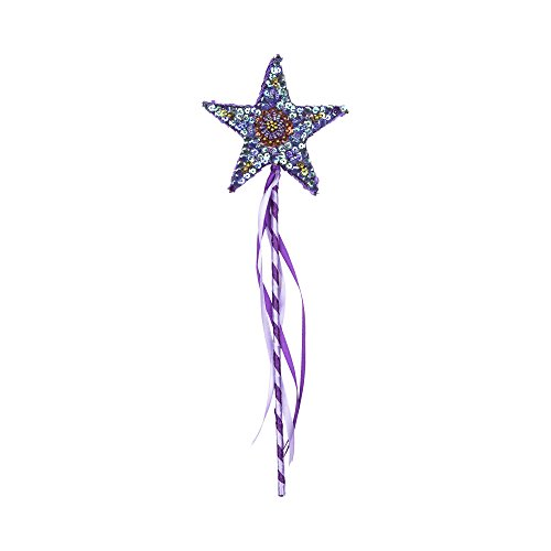 Star Wand Magic (SHU-SHI Wand Child Princess Star Toy Magic for Boys and Girls Handmade Wooden)