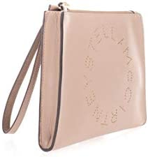 Luxury Fashion | Stella Mccartney Woman 502892W85422800 Pink Leather Pouch | Spring Summer 20