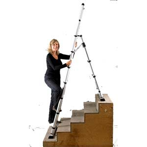 Combination Telescopic Ladder (PART NO. TTP14ES Telesteps 14ES, Telescopic Combination Ladder, 14 foot)