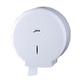 Jofel AE57000 - Dispensador de papel en rollo, rollos de 45 mm diámetro, color blanco: Amazon.es: Industria, empresas y ciencia