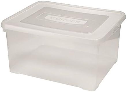 Curver - Caja de almacenaje con tapa, 35 L, transparente: Amazon.es: Bricolaje y herramientas