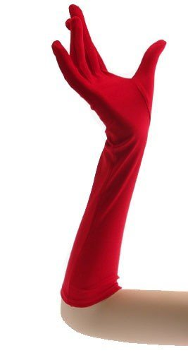 Be Wicked BW100 100% Polyester Gloves,color Red,size (Cruella De Vil Gloves)