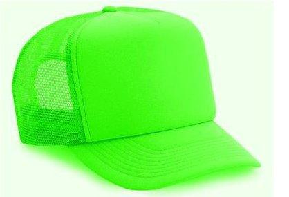 ff4daa3134d Amazon.com  Neon Mesh Trucker Hat Cap (Neon Green)  Clothing