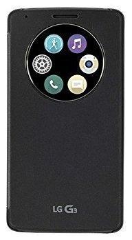 LG L3 Snap On Folio Carrying Case - Quick Circle Case - Titanium Black (Lg G3 Titanium)