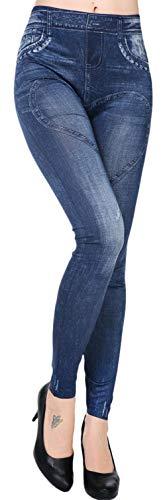 Jeans Taille Leggings Slim Skinny Taille Lukis Femme Bleu Stretch Denim Haute Bleu Pantalon Unique qUHHIp