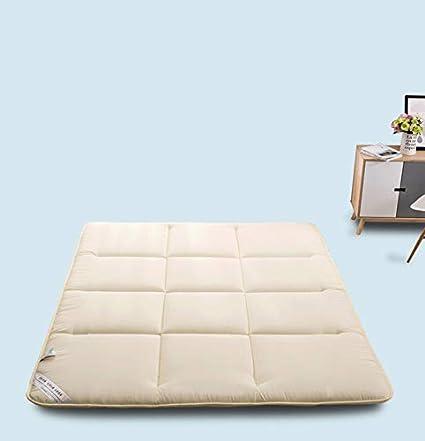 Wdj Espesar Tatami colchón Plegable colchón Estudiante Dormitorio Doble Esponja Colchón Blando,ightgrey,2