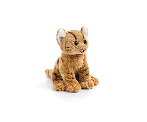 DEMDACO Orange Tabby Cat Children's Plush Beanbag Stuffed Animal Toy