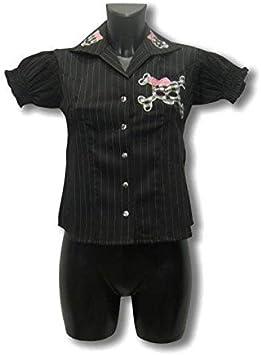 Horror-Shop Camisa a Rayas con Calavera S / 36: Amazon.es: Juguetes y juegos