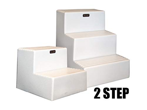- Todd Double Boarding Step Economical Lightweight Strong White W/ Non Skid Step Surface