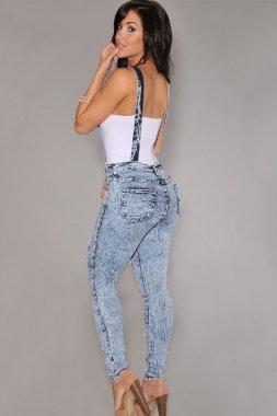 New Damen Denim Dungaree Jumpsuit Spielanzug Club Wear Kleidung Größe 12