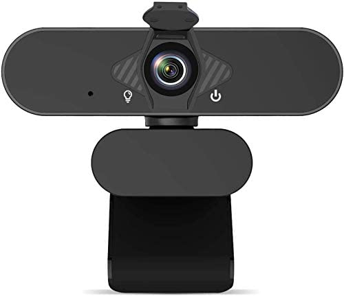 1080P Web Camera, HD Webcam with Microphone & Privacy Cover, USB Computer Camera, 110-degree Wide Angle, Plug and Play, for Zoom/Skype/Teams/OBS, Conferencing and Video Calling