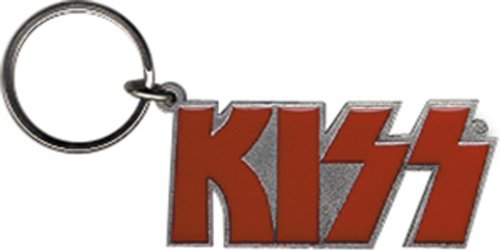 Licenses Products Kiss Red Logo Metal Keychain