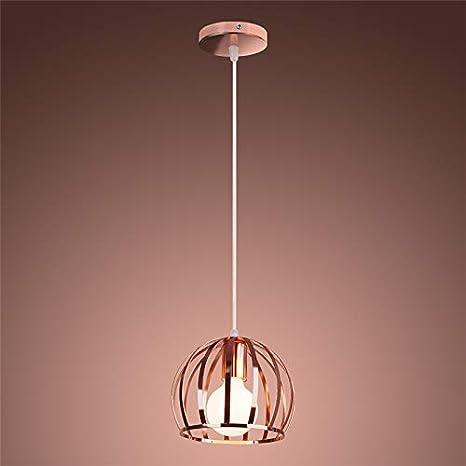 Wankd Industria - Lámpara de techo colgante de oro rosado y ...