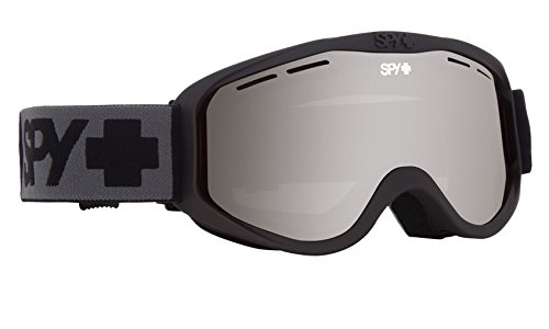 Spy Optic Cadet 313347374207 Snow Goggles, One Size (Matte Black Frame/Silver - Spy Goggle Lenses