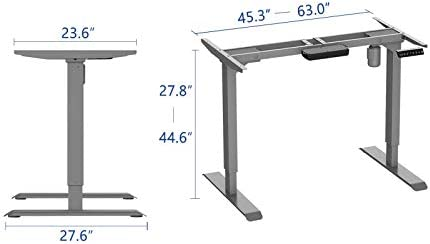 AIMEZO Height Adjustable Desk Electric Sit Stand Desk Home Office Standing Desk