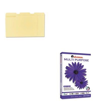 KITUNV12113UNV95400 - Value Kit - Universal Multipurpose Paper (UNV95400) and Universal File Folders (UNV12113) by Universal